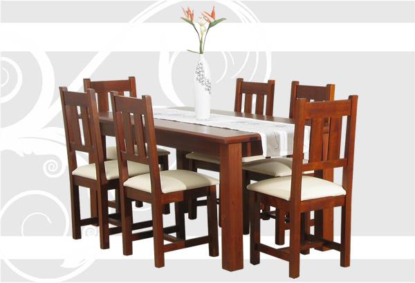 Mobilia s a muebles en madera maciza Catalogo de mesas y sillas de comedor